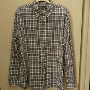 John Varvatos plaid shirt gray and purple XL